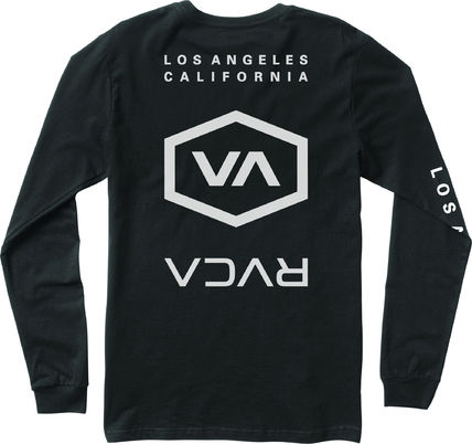 RVCA Long Sleeve Crew Neck Street Style Long Sleeves Cotton 4