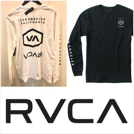 RVCA Long Sleeve Crew Neck Street Style Long Sleeves Cotton