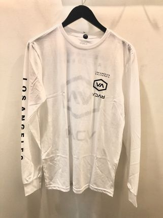 RVCA Long Sleeve Crew Neck Street Style Long Sleeves Cotton 5