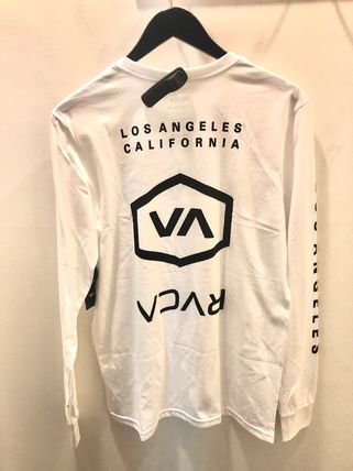 RVCA Long Sleeve Crew Neck Street Style Long Sleeves Cotton 6