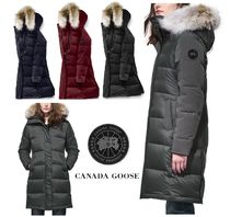 CANADA GOOSE ROWLEY Fur Plain Long Down Jackets