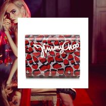 Jimmy Choo Leopard Patterns 2WAY Chain Party Style Clutches