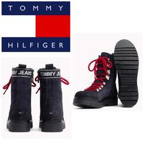Tommy Hilfiger Mountain Boots Round Toe Rubber Sole Casual Style Suede