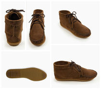 Minnetonka Rubber Sole Suede Plain Handmade Ankle & Booties Boots