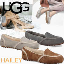 UGG Australia HAILEY FLUFF LOAFER Moccasin Round Toe Rubber Sole Casual Style Suede