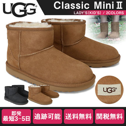 UGG Australia Ankle & Booties Rubber Sole Casual Style Fur Street Style Plain