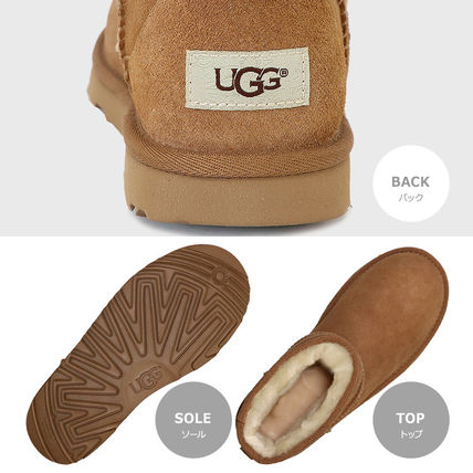 UGG Australia Ankle & Booties Rubber Sole Casual Style Fur Street Style Plain 3