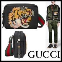 GUCCI Stripes Unisex Canvas Street Style Other Animal Patterns