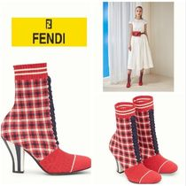 FENDI Other Check Patterns Casual Style Ankle & Booties Boots