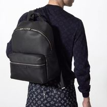 Louis Vuitton TAIGA Blended Fabrics Street Style A4 Plain Leather Backpacks