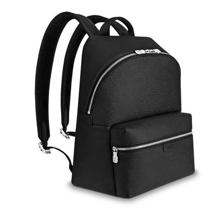 Louis Vuitton Backpacks Blended Fabrics Street Style A4 Plain Leather Backpacks 3