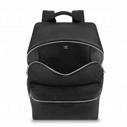 Louis Vuitton Backpacks Blended Fabrics Street Style A4 Plain Leather Backpacks 4