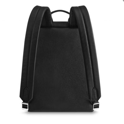 Louis Vuitton Backpacks Blended Fabrics Street Style A4 Plain Leather Backpacks 5