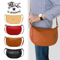IL BISONTE Unisex Plain Other Animal Patterns Leather