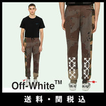 Off-White Printed Pants Camouflage Street Style Cotton Patterned Pants