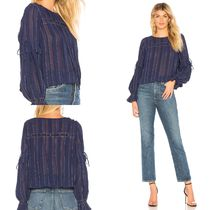 TULAROSA Crew Neck Stripes Long Sleeves Medium Shirts & Blouses