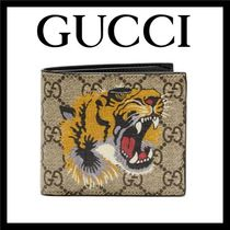 GUCCI GG Supreme Unisex Canvas Street Style Other Animal Patterns