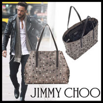 Jimmy Choo Star A4 Leather Totes