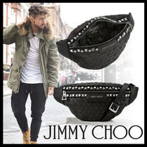 Jimmy Choo Star Studded Street Style Leather Messenger & Shoulder Bags