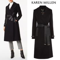 Karen Millen Wool Plain Medium Elegant Style Trench Coats