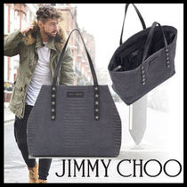 Jimmy Choo Street Style A4 Other Animal Patterns Leather Totes