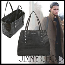 Jimmy Choo Star Street Style Other Animal Patterns Leather Totes