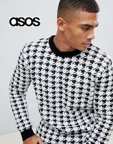 ASOS Crew Neck Other Check Patterns Zigzag Street Style