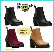 Dr Martens Plain Toe Casual Style Leather Block Heels