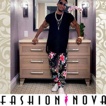 FASHION NOVA Flower Patterns Street Style Cotton Cargo Pants
