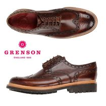 Grenson Wing Tip Plain Leather Oxfords