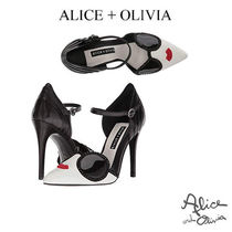 Alice+Olivia Leather Pin Heels Party Style Shoes