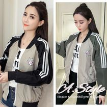 Casual Style Street Style Medium Oversized Varsity Jackets