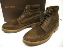Buttero Wing Tip Suede Boots