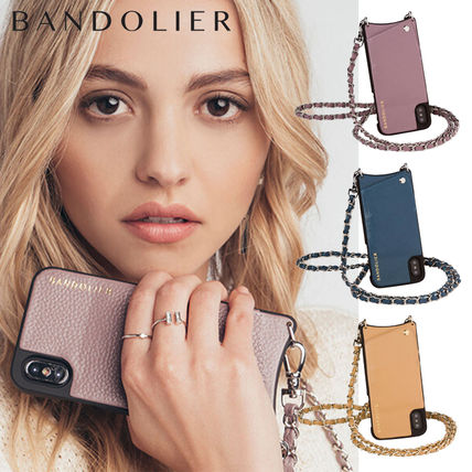 Chain Leather Smart Phone Cases
