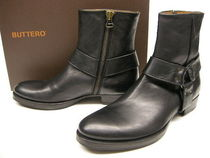 Buttero Plain Toe Leather Engineer Boots