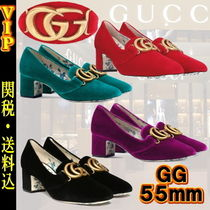 GUCCI Flower Patterns Round Toe Other Animal Patterns Leather