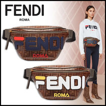 FENDI Monogram Canvas Elegant Style Bags