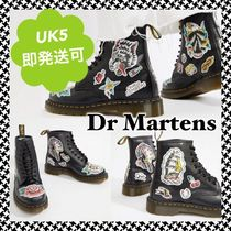 Dr Martens Lace-up Casual Style Plain Lace-up Boots