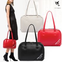PRADA Casual Style Lambskin 2WAY Bi-color Totes