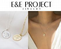 E and E PROJECT Coin Silver 14K Gold Necklaces & Pendants