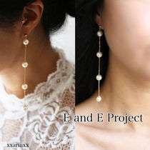 E and E PROJECT Chain Handmade Home Party Ideas Silver Earrings