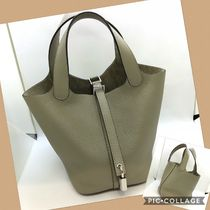 HERMES Picotin Casual Style Plain Leather Bags