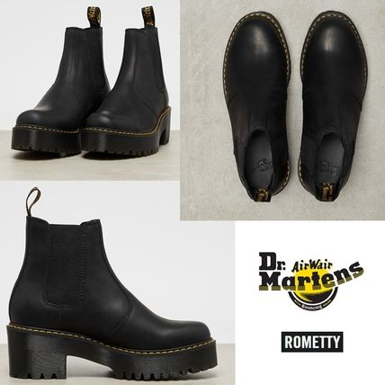 Dr Martens Ankle & Booties Platform Round Toe Plain Leather Chelsea Boots 2