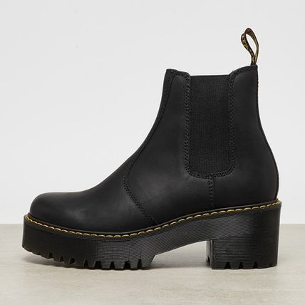 Dr Martens Ankle & Booties Platform Round Toe Plain Leather Chelsea Boots 4