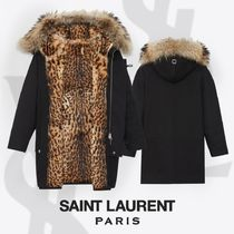 Saint Laurent Leopard Patterns Street Style Plain Medium Elegant Style