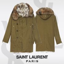 Saint Laurent Casual Style Street Style Plain Medium Parkas