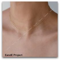 E and E PROJECT Casual Style Unisex Chain Handmade Silver 14K Gold Fine