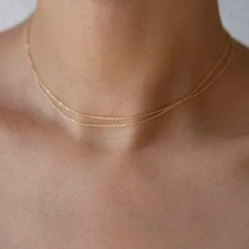 Casual Style Unisex Chain Handmade Silver 14K Gold Fine