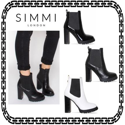 Casual Style Street Style Block Heels Ankle & Booties Boots