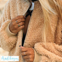 ANDI BAGUS Casual Style Faux Fur Street Style Plain Handmade Jackets